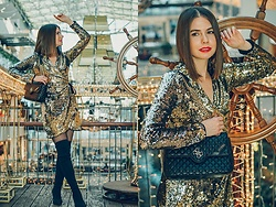 Paulina Rudnicka -  - Sequined dress