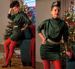 Carolyn W - Femme Luxe Evergreen, We Love Colors Sparkling, Zara Sparkling, Jenn Ardor Black - A Chic Holiday