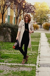 Butterfly Petty - Guess Bag, Zaful Trench, Fraiche Boots, Zara Dress - Autumn fashion