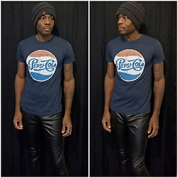 Thomas G - Savvy Vintage Pepsi Cola, Faded Glory Faux Leather, C.C Beanie - More Bounce to the Ounce