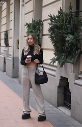Claudia Villanueva - Shein Turtleneck, Shein Bag, Mango Pants - Basic Line