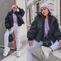 Nün Stannard - Zara Jacket, Asos Hat, Nün Bangkok Pants, Buffalo Shoes, Prada Bag - Lilac everyday 💜