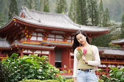 Jade Zhu - Gucci Leather Belt, Madewell Jeans - Japanese Temple