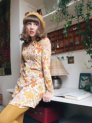 Sarah Hughes - Corky Craig Of California Mini Dress, Primark Tights, Accessorize Beret - Resting My Head On A Rainbow