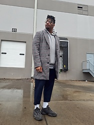 Jason - Adidas Yeezy 500, Forever 21 Cropped Pants, Forever 21 Plaid Overcoat - More Layers