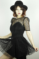 Maze - Vintage Black Lace Dress - Powerful 2020!