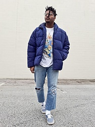 Jason - Vans Authentic Low, Asos Puffer Jacket - No Sad