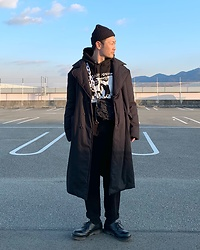 ★masaki★ - Komakino Coat, Sonic Youth Hoodie, Dr. Martens 3hole - Sonic Youth