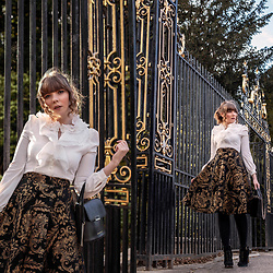 Eloise Alice -  - The gold and black Baroque skirt