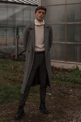 Georg Mallner - Vero Moda Coat, Cos Turtleneck, H&M Pants, Dr. Martens Dr - January 08, 2020