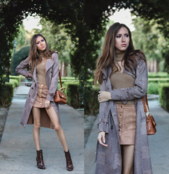 Jenny M - Forever 21 Sweater, Forever 21 Trench Coat, Aldo Snake Boots - NEUTRALS // @thehungarianbrunette