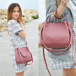 Tamara Bellis - Shein Mini Dress, Newchic Pink Bag - One More Spring Look