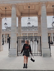 Emmy Nikolausson - Zara Leather Skirt, H&M Boots - SOMEWHERE IN PARIS ~