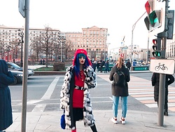 Alina Kireyeva - Dolls Kill Furr Coat, O Mighty Weekend Omighty Dress - Cccp in my blood