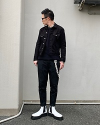 ★masaki★ - Neuw Denim Jacket, Neuw Denim Chino, Asos Chelsea, Vitaly Bracelet & Necklace - Simple Fits