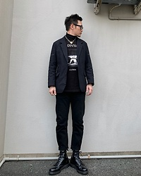 ★masaki★ - Joy Division Closer, Komakino Jacket, Neuw Denim Jeans, Dr. Martens 8hole, Vitaly Padlock Necklace - CLOSER