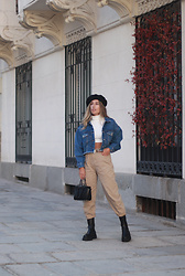 Claudia Villanueva - Primark Beret, Pull & Bear Jacket, Shein Sweater, Yesstyle Jeans, Zara Bag, Bershka Boots - How I wear my winter basics