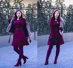 Drew - Dorothy Perkins Dress, Bonprix Shoes - Burgundy mood