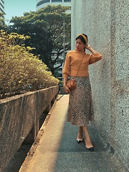 Cassey Cakes - Mango Skirt, Zara Shoes, Zaful Sweater - Camel Tones
