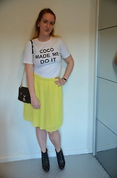 Sarah M - Aliexpress T Shirt, Mango Skirt, Aliexpres Bag, Carma Booties - Coco made me