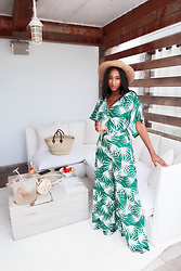 Ria Michelle - Collectif Palm Print Jumpsuit - Membership Goals: 1 Hotel Beach Club