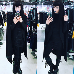 Ghoulette - H&M Cinch Tie Dress, Volatile Usa Knee High Boots, Amazon Fashion Cape - Imperial march but make it dubstep remix