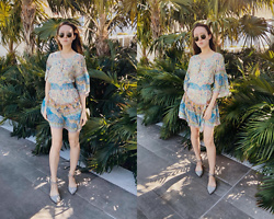 Nicole Plunkett - Ray Ban Sunglasses, Spell Designs Dress, Nina Shoes - Jungle Fever
