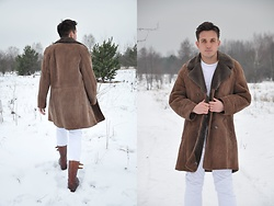 Pawel - Vintage Coat, Vintage Shoes - Winter.