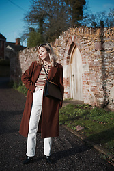 Daniella Robins - Marks & Spencer Coat, Topshop Jeans - Winter Style: Fair Isle Knitwear