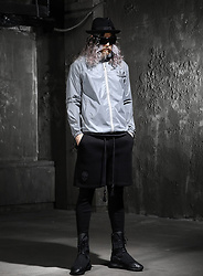 INWON LEE - Byther Bright Basic Hooded Windbreaker, Byther Shorts, Byther Mens Tights - Reflective Outerwear