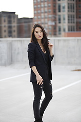 Kimberly Kong - Aeropostale Distressed Jeggings, Rag & Bone Pinstripe Blazer - Treat Yourself this Valentine's Day with Babbleboxx