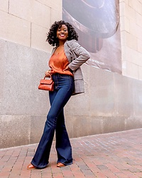 Iféoluwa Anani - Fashionnova, H&M Blazer, Fashionnova Mini Bag, Target Cami Top - New Chapter