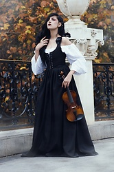 Ellone Andreea - Maria Heller Designs Long Sleeve Chemise, Maria Heller Designs Lacing Dress - Fiddle