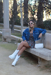 Claudia Villanueva - Pull & Bear Jacket, Shein Dress, Yes Style Bag, Yellowshop Boots - No tights, please