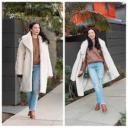Lisa Valerie Morgan - Coat, Abercrombie & Fitch Jeans, Sweater, Calvin Klein Boots - & Other Stories Teddy Bear Coat