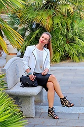 Rimanere Nella Memoria - Asos Sandals - Black & White Dinner Outfit