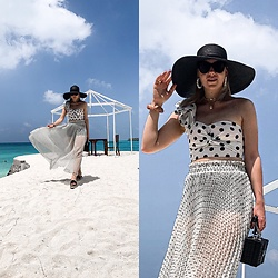 Zuza - H&M Skirt, H&M Crop Top, Asos Sunglasses, Zara Bag - Maldives vibes
