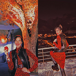 Natasha Karpova - Zara Red Leopard Dress, Mexx Bag, Guess Watch - RED LEOPARD