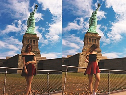 Jenny - Femmeluxe Top, Primark Skirt - Statue of Liberty