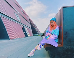 LalAismi Wai - Tokyo Bopper Shoes, W.C Hoodie, Marc Jacobs Bag, Lalaismi Wai Skirt - Colorful Sport