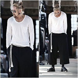 INWON LEE - Byther Loose Round T Shirts, Byther Baggy Pants - Casual Day Shirt