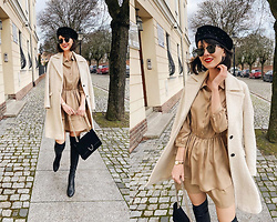 Daisyline . - Pepe Jeans Coat, Mango Bag, Mohito Dress, Reserved Hat - How to be parisian / IG: daisylineblog