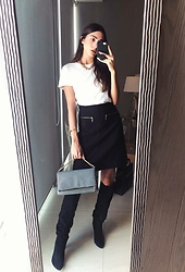 Mariana Garza - Zara Skirt, Stradivarius T Shirt, Forever 21 Necklace - Basics