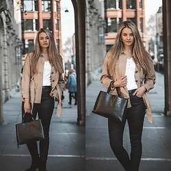 Ola Michałowicz - House Jacket, Stradivarius Black Bag - Beige