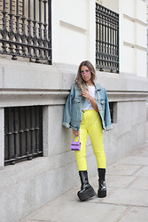 Claudia Villanueva - Vintage Jacket, Stradivarius T Shirt, Everything5pounds Pants, Nihao Jewelry Bag, Asos Boots - Los Colores de mi Armario