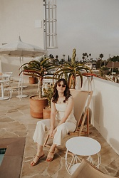 Tonya S. - Jumpsuit (Link On My Blog), Lucy Folk Sunglasses, Need Sandals - Silver Lake
