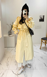 Miamiyu K - Miamasvin Double Breasted Cotton Trench Coat - Sunny Fresh