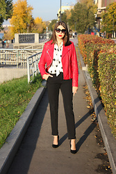 Anastasia Burmistrova -  - Red and polka dot
