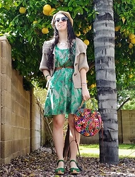 Saguaro Style - Amerileather Rainbow Bag, Swedish Hasbeens Heart Medallion Debutante Green - 03.16.20