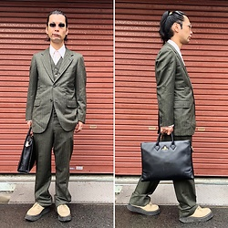 @KiD - Typhoon Mart Johns, Vintage Suits, Vivienne Westwood Business Bag, George Cox Rubber Sole - JapaneseTrash536